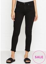 A Gold E AGOLDE Sophie High Rise Skinny Crop Frayed Hem Jeans