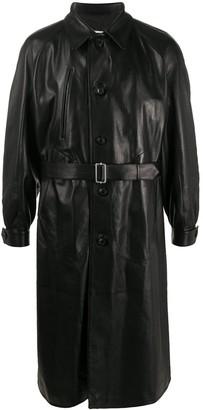 Maison Margiela Belted Leather Coat