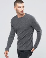 Sisley Seamless Ribbed Sweater with Colored Fleck
