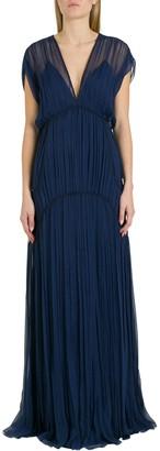 Alberta Ferretti Empire Waist Long Dress