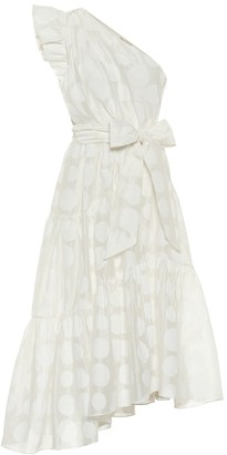 Ulla Johnson Ariane organza one-shoulder midi dress