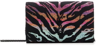 Saint Laurent Animal Print Chain Clutch Bag