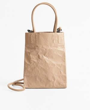 MANGO Wrinkled Effect Bag