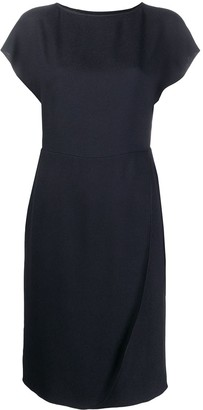 Emporio Armani Short-Sleeved Round-Neck Dress