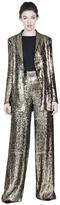 Alice + Olivia Jace Shawl Collar Oversized Sequin Blazer