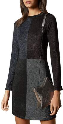 Ted Baker Color by Numbers Redlo Color-Blocked Knit Dress