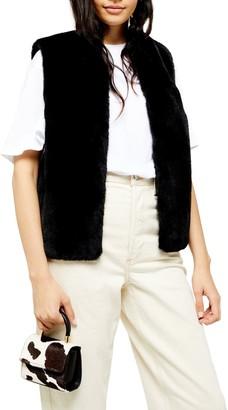 Topshop Luxe Faux Fur Vest