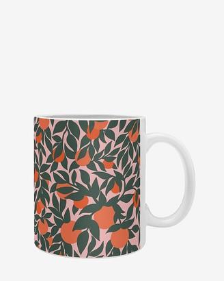 Express Deny Designs Oranges And Leaves Coffee Mug