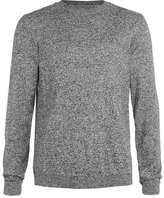 Topman Salt And Pepper Gray Crew Neck Sweater