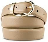 Merona Women's Textured Belt Beige