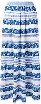 Cecilia Prado floral stripe skirt - women - Cotton/Acrylic/Polyester - L