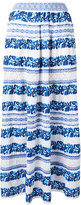 Cecilia Prado floral stripe skirt - women - Cotton/Acrylic/Polyester - S
