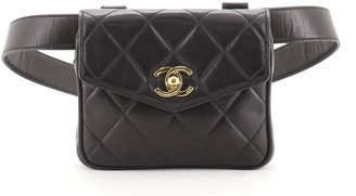 Chanel CC Flap Waist Bag Quilted Leather Small NaN