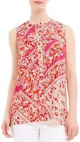 Ellen Tracy Petite Petite Floral-Print Sleeveless Shirt