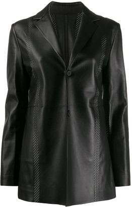 Alyx Fitted Leather Blazer