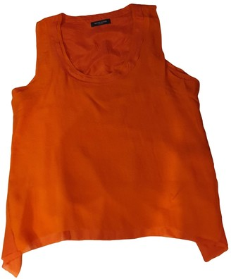Bruuns Bazaar Orange Silk Top for Women
