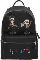 Dolce & Gabbana Designers & Radio Patch Nylon Backpack