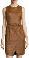 philosophy Sleeveless Faux-Suede Dress, Brown