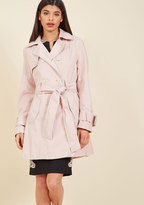 Betsey Johnson Coffee Break From the Norm Trench in Petal in M