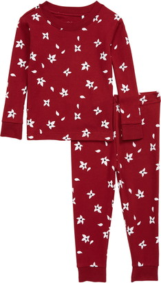 Petit Lem Floral Fitted Two-Piece Pajamas