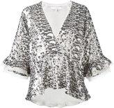IRO metallic wrap-front blouse