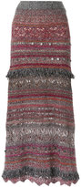 Cecilia Prado long knitted skirt - women - Cotton/Acrylic/Lurex/Polyester - P