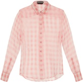 Rochas Madras gingham silk-organza blouse