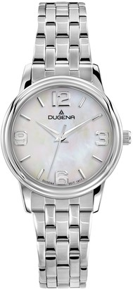 Dugena Women's Elegant Quartz Watch with Quartz Dial Analogue Display and Silver Stainless Steel Bracelet