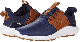 Puma Golf Ignite Nxt Crafted (Peacoat/Leather Brown Team Gold) Men's Shoes