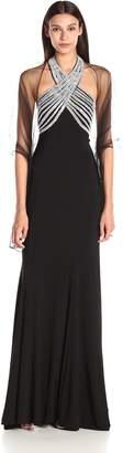 Jovani Jvn By JVN by Women's Fitted Halter Jersey Dress
