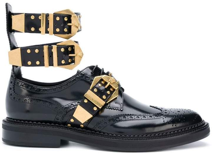 Versace buckled Derby shoes