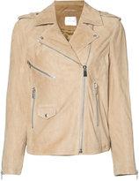 Anine Bing biker jacket - women - Viscose/Goat Suede - XS