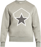 Moncler Embossed-star neoprene sweatshirt