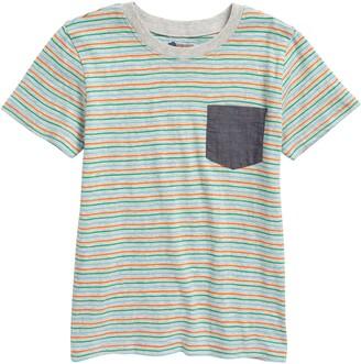 Tucker + Tate Stripe Chambray Pocket T-Shirt