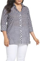 Foxcroft Plus Size Women's Gingham Tunic