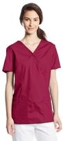 Cherokee Women's Workwear Scrubs Core Stretch Mock-Wrap Top