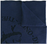 Diesel intarsia detail scarf - men - Cotton/Polyester - One Size