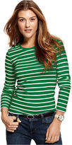 Tommy Hilfiger Long-Sleeve Striped Crew-Neck Top