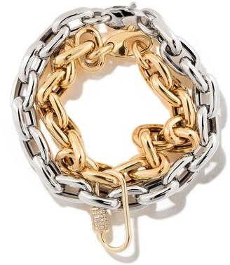 """As 29 18kt Yellow Gold Diamond Oval Carabinier (Medium), 18kt White Gold 7.5"""" Bold Links Chain Bracelet, 18k Yellow Gold 7.5"""" Bold Links Chain Bra..."""