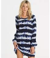 Billabong Junior's Line up Long Sleeve Mini Shift Dress