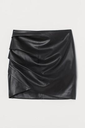H&M Draped mini skirt