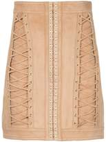Balmain lace-up mini skirt