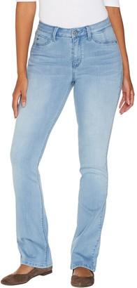 Laurie Felt Petite Silky Denim Baby Bell Jeans w/ Fly