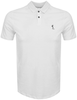 Religion Curved Hem Polo T Shirt White