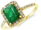 Effy Red Box Gallery 14K Yellow Gold Emerald Ring