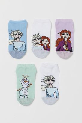 H&M 5-Pack Shaftless Socks