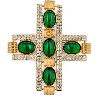 Gucci Cross brooch with cabochon stones