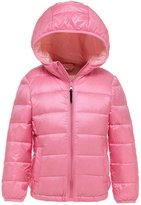 Wenseny Down Jack Boys Girls Winter Packable Quilted Lightweight Hoodie Down Jacket 6-7