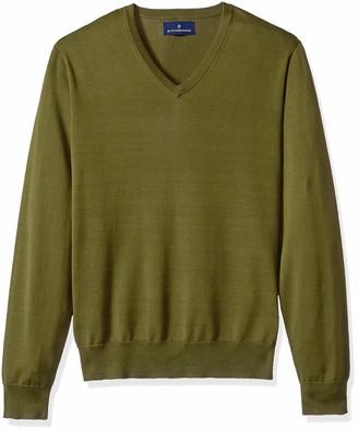 Buttoned Down Supima Cotton V-neck Sweater Dark Grey US M (EU M)
