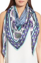 Echo Women's Medallion Triangle Silk Scarf